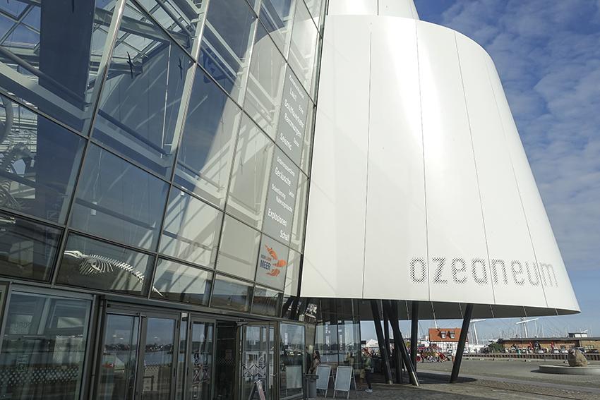 Ozeaneum Stralsund architektonische Detail Eingang